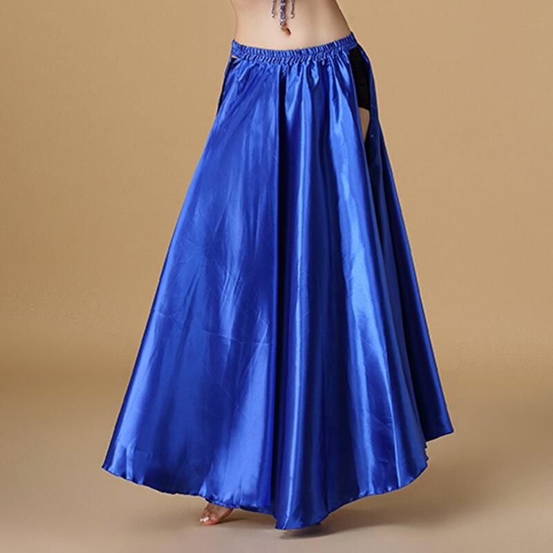 Image 2 - 2020 Performance Belly Dance Costume Saint Skirt 2 sides Slits Skirt Sexy Women Oriental Belly Dance Skirt Female Dance ClothesBelly Dancing   -