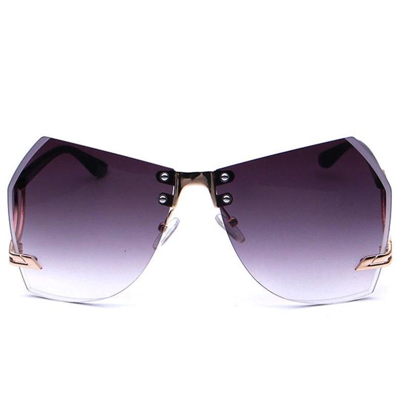 Classic Rimless Fashion Simple Couple Sunglasses Funny