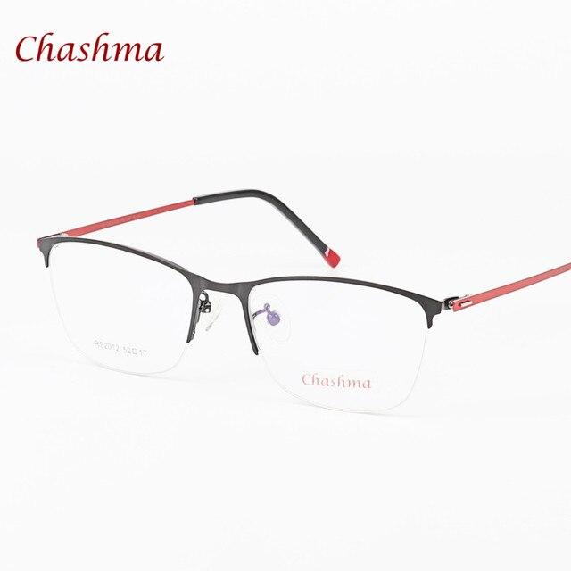 3cd26122609f9a Chashma Merk Mode Vrouwen Merk Designer Clear Lens Bril Half Frame Optische  Glazen Mannelijke Brillen Frames