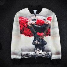 3D Men Clown Mushroom Cloud Hoodie Jacket Coat Sweat Mens Top Button Tracksuit Winter 2017 Men's Simple Cardigan Sweater