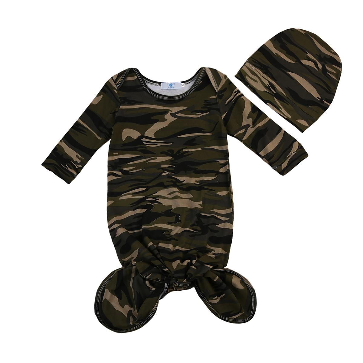 Newborn Infant Baby Camouflage Sleeper Newborn Kids Sleeping Bag