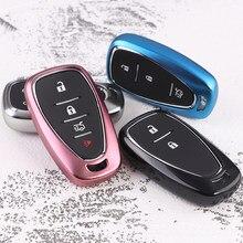 Presente do estilo do carro caso TPU Macio Silicone tampa da chave do carro Para Chevrolet Cruze EquinoX Malibu XL TRAX 2 3 4 5 botão do controle remoto chave shell