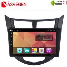 Asvegen 10.2'' Android 7.1 Quad Core Car Auto GPS Navigation Stereo Radio Multimedia DVD Player For Hyundai Solaris Verna 2010