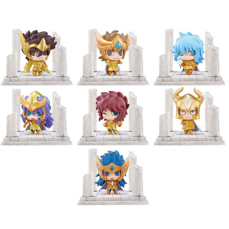 7pcs/lot Anime Saint Seiya PVC Action Figures Toys Q Version The Gold Zodiac Saint Figure Collection Model Toy With Box adriatica часы adriatica 3699 5253q коллекция ladies