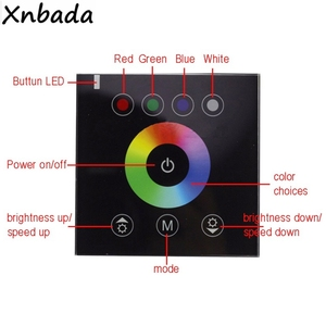 Image 2 - RGB Wall Mounted Touch Panel Led Controller Glass Panel Dimmer Switch Controller For 2835 5050 Led Strip Light DC12V 24V