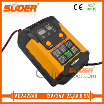 Suoer【 Gel Battery charger 】 fully automatic smart battery charger 12V 24V car battery charger(A02-1224B)