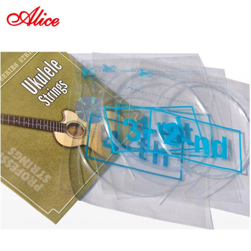 Professional Ukulele Strings Alice Black Nylon Or Clear Nylon 4 Strings AU02 Or AU04 Mini Hawaiian Guitar Strings