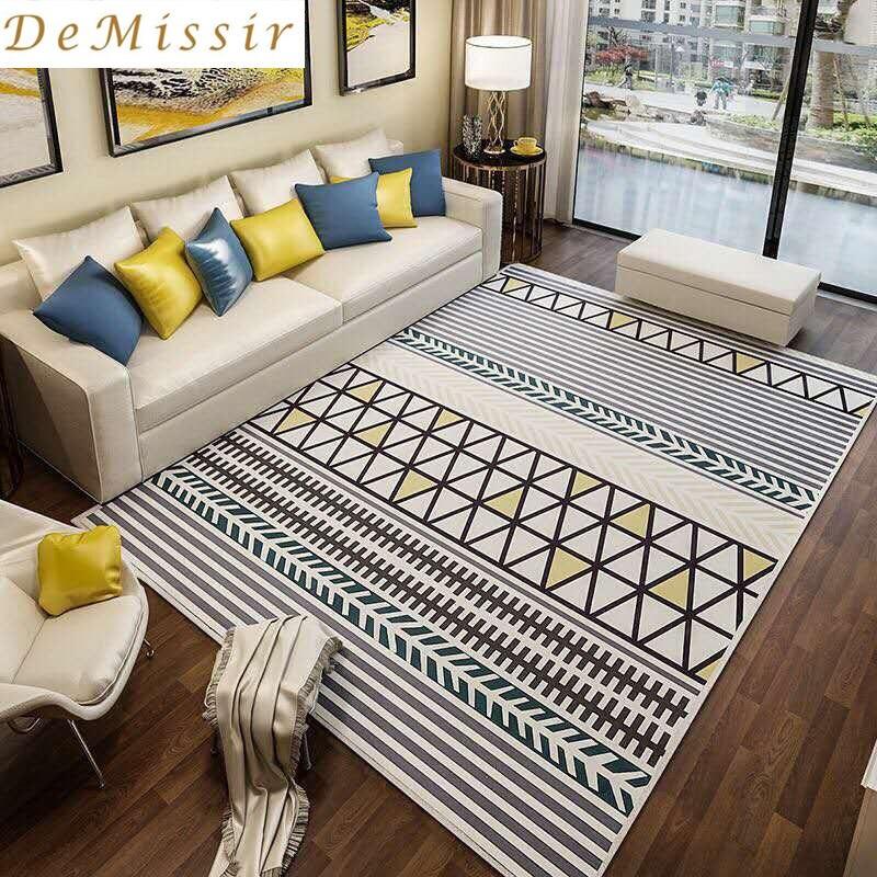 Grand Europe Simple motif géométrique Rectangle tapis salon salon tapis chambre chaise tapis maison hôtel utilisation décorer