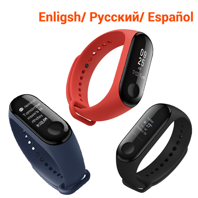 2018 M3 Smart Bracelet Fitness Women Bracelet MiBand 3 Large Touch Screen OLED Information Heart Rate Time Smart Sport Watch Men spring autumn vestidos tracksuit girls sports suit kids fashion hooded sportwear children track suit clothes set casual outfit