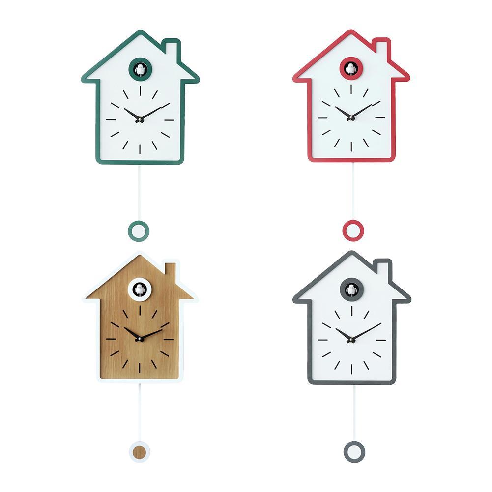 AUGKUN coucou horloge salon mur réveil oiseau bref moderne Chiming horloge enfants enfants décorations maison ornements