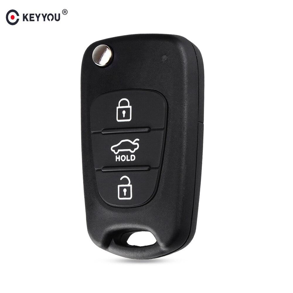 Coque de clé de voiture automatique à distance pliable KEYYOU pour Kia Rio 3 Picanto Ceed Cerato Sportage K2 K3 K5 Soul pour étui à clé Hyundai