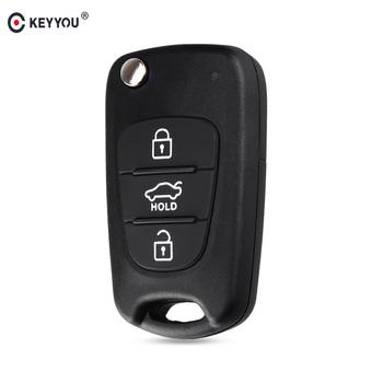 KEYYOU odwróć składane zdalne Auto obudowa kluczyka samochodowego dla Kia Rio 3 Picanto Ceed Cerato Sportage K2 K3 K5 dusza dla Hyundai etui na klucze tanie i dobre opinie without key shell for hyundai abs plastic in China