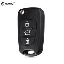 KEYYOU składany pilot zdalnego sterowania Auto samochód klucz Shell dla Kia Rio 3 Picanto Ceed Cerato Sportage K2 K3 K5 duszy dla Hyundai klucz przypadku tanie tanio key shell for hyundai abs plastic in China