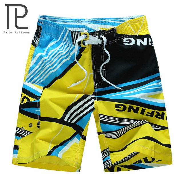 2018 Men's Beachwear Summer Board Shorts Quick Drying Swim Trunks with Elastic Waist for Running Training Workout Watersports 2