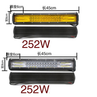 free shipping 84 lamp 252W super bright truck middle net lamp LED spotlightLED Light Bar car Straight Dual Row driving light bar