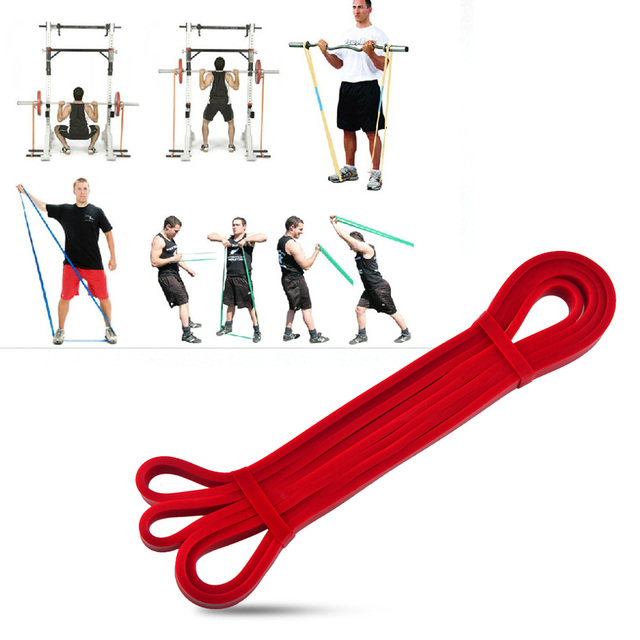 Latex Crossfit Resistance Bands Gym Fitness Power Training Expander Powerlifting Home Workout Equipment Trainers Bar Belt