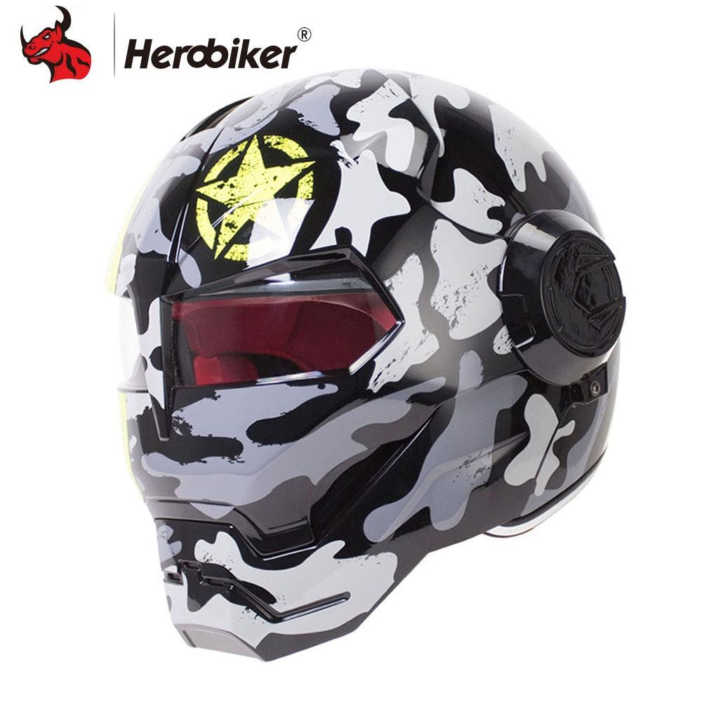HEROBIKER Moto Casco Moto Casco Capacetes casco Retro Casco Motocross Casco Moto Moto Casco
