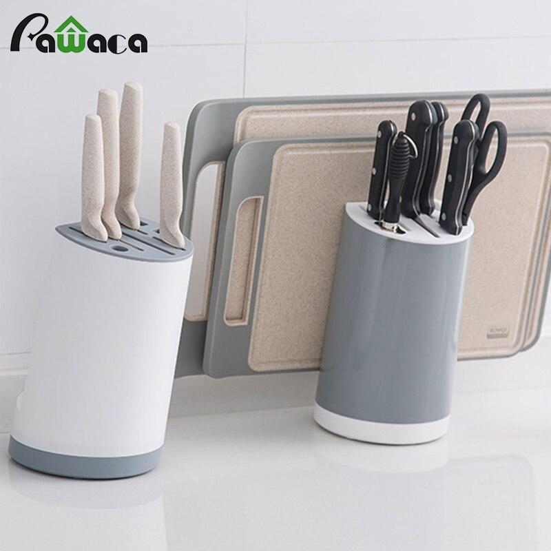 Universal Knife Block Rest Rack Stand Shelve Cutting Board Knives Holder Storage Organizer Multifunctional Holder Kitchen Tools