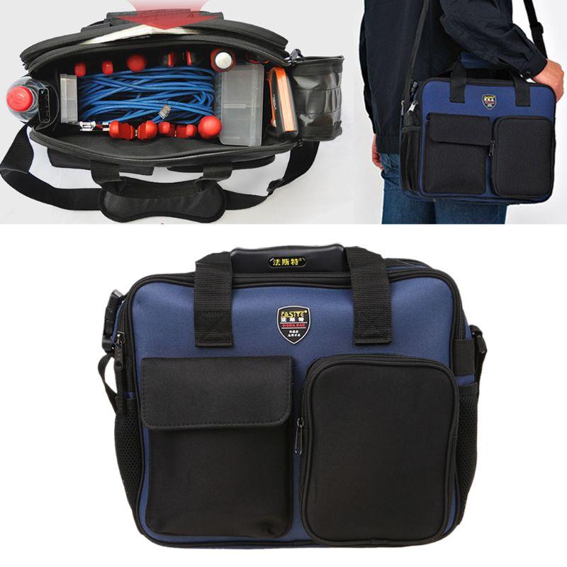 600D Repair Tool Kit Shoulder Bag Portable Handbag Storage Case Pouch Organizer With Reflective Strip For Worker Gardening