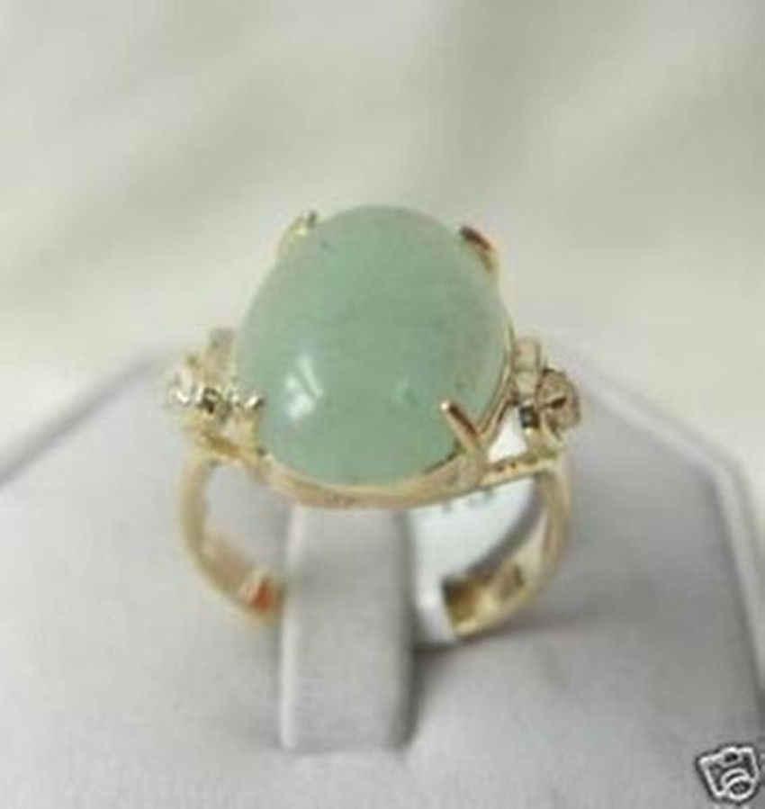 จัดส่งฟรี>>>@@ราคาขายส่ง16new ^^^^ประเสริฐเครื่องประดับหยกสีเขียวขนาดแหวนผู้หญิง's 7 8 9 #