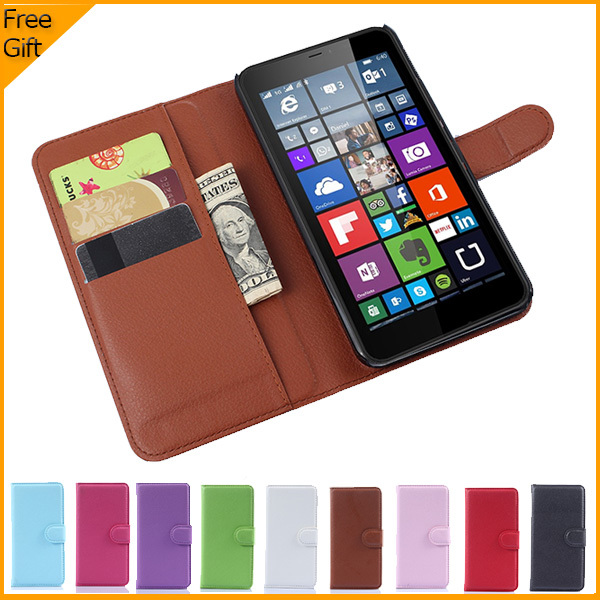 detailing debf8 454db Luxury Wallet Leather Flip Case Cover For Microsoft Lumia 640 XL Lte Dual  SIM Cell Phone Case Back Cover With Card Holder Stand