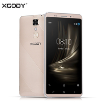 XGODY D17 Smartphone Android 5.1 5.5 Polegada 1 GB RAM 16 GB ROM Quad núcleo 8MP GPS Dual Sim 5.5 Polegada 3G Desbloqueado Telefones Celulares 2800 mAh
