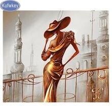 Женская шляпка с алмазной вышивкой украшение для дома в европейском