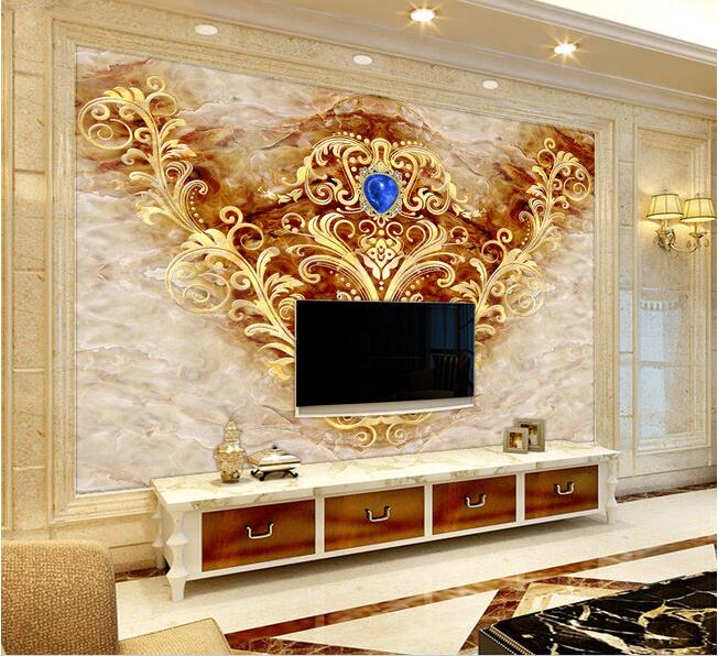 Compare prices on marble wall design online shopping buy for Custom mural cost