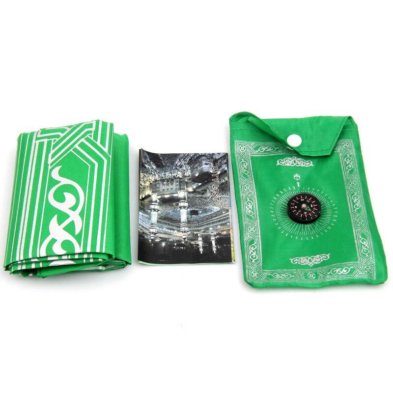 Image 5 - Portable Islamic Muslim prayer carpet rug Islamic Arab Ramadan compass prayer matmat matmat rugmat carpet
