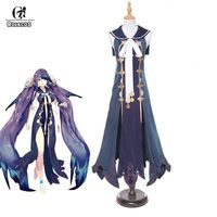 Rolecos SINoALICE Costume The Little Mermaid Cosplay Costume Game Sexy Cosplay Witch Vampire for Halloween Masquerade Party