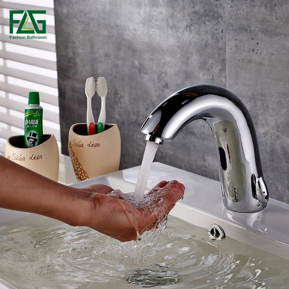 FLG Высокое качество бассейна кран Chrome бросить холодной и горячей прикосновения руки коснитесь Авт завышенным датчик бортике черепок коснит...