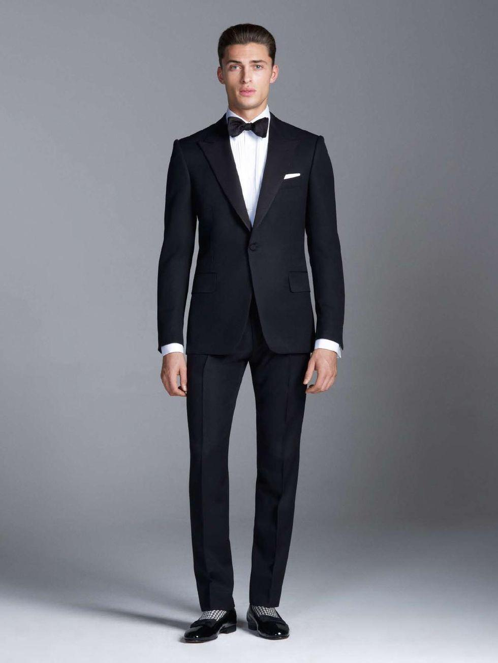 New Arrival Black Mens Suits For Wedding Peaked Lapel Two Piece ...