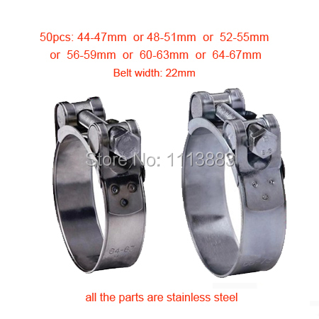 Stainless Steel Unitary Robust Pipe Clips T Clamps with Single Bolt