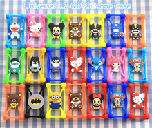 3D Minions Minne Bear Stitch Hello Kitty Batman Superman Soft Silicone Case for Galaxy A7 2016 A710F A710 A7100 Back Cover