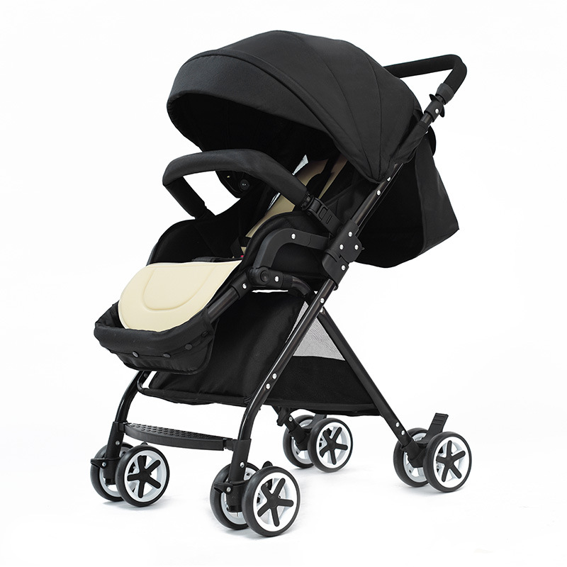 baby stroller ultra-light folding can sit can lie landscape umbrella baby trolley summer and winter Manufacturer wholesale light foldable baby stroller 3 in 1 cozy can sit and lie lathe umbrella car stroller carry bag 4 colour three wheels single seat