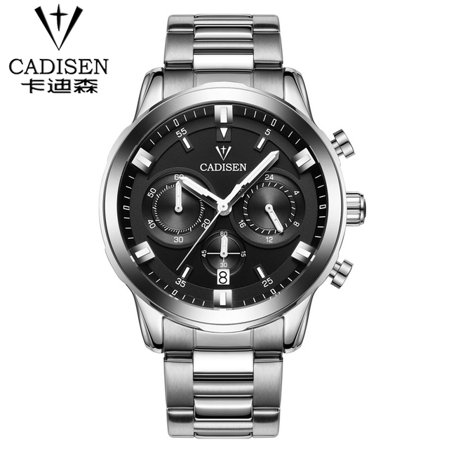 2016 top brand luxury mens watches import movement quartz watch Automatic date leather watch stainless steel waterproof watch