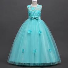 CAILENI Teenage Girls Dress Kids Wedding Party Dresses Flower Big Girl Formal Dress Children Birthday Clothing for Teen Girl недорого