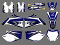 0019 New Style TEAM GRAPHICS&BACKGROUNDS DECALS STICKERS Kits FIT for YZ250F YZ450F 2006 2007 2008 2009