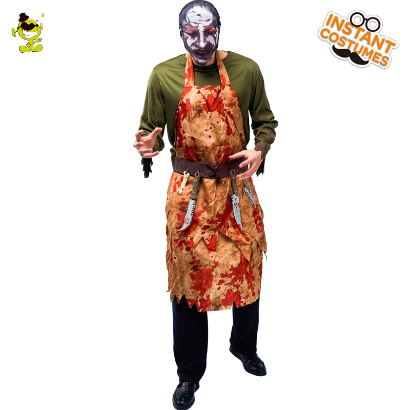 QLQNew Arrival Menu0027s Cruel Butcher Man Costume Cosplay Halloween Party With Bloody Butcher Clothing Performance Halloween Party -in Holidays Costumes from ...  sc 1 st  AliExpress.com & QLQNew Arrival Menu0027s Cruel Butcher Man Costume Cosplay Halloween ...
