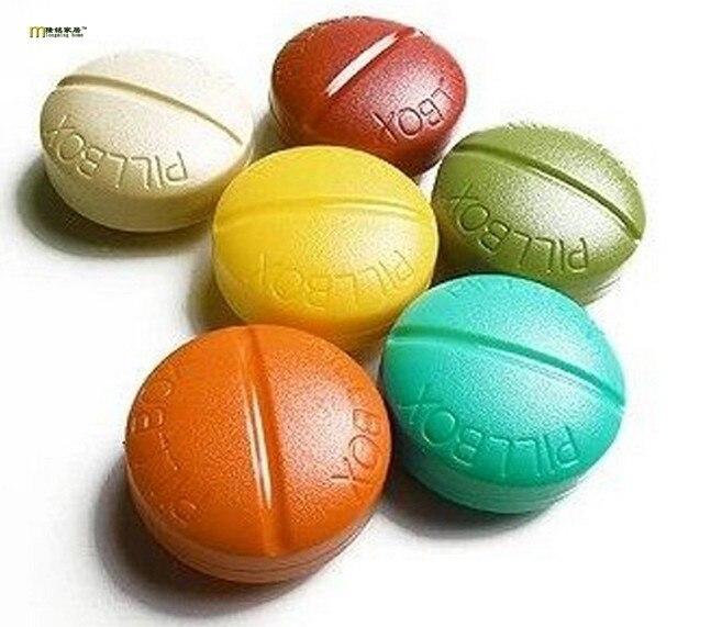 1 шт. Портативный 4, печать складной Pill Чехол ювелирные изделия конфеты Витамин Медицина Pill Box Дело контейнер Кухня хранения boxok 0254