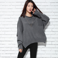 High End Cashmere Knitted Sweater Shawl Women Wool Bat Shirt Autumn And Winter Loose Cloak Thick