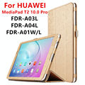 Case For Huawei MediaPad T2 10.0 Pro Protective Smart cover Faux Leather Tablet For HUAWEI Youth FDR-A01L/W/A03L/04 PU Protector