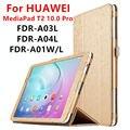 Case para huawei mediapad t2 10.0 pro tableta cubierta elegante de cuero de imitación de protección para huawei youth fdr-a01l/w/a03l/04 protector de la pu