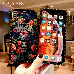 Image 4 - FQYANG Luxury Square Blu Ray Rose Phone Case For SAMSUNG S10 PLUS S8 S9 S10LITE Flower Cases For SAMSUNG NOTE 9 8 With Lanyard