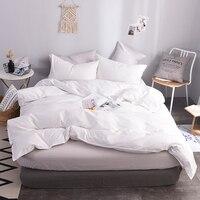 Hôtel blanc pur appliquer literie maison Textile housse de couette 1 pièces 100% coton doux couvre-lits housse de couette 200X230 cm 220x240 cm taille