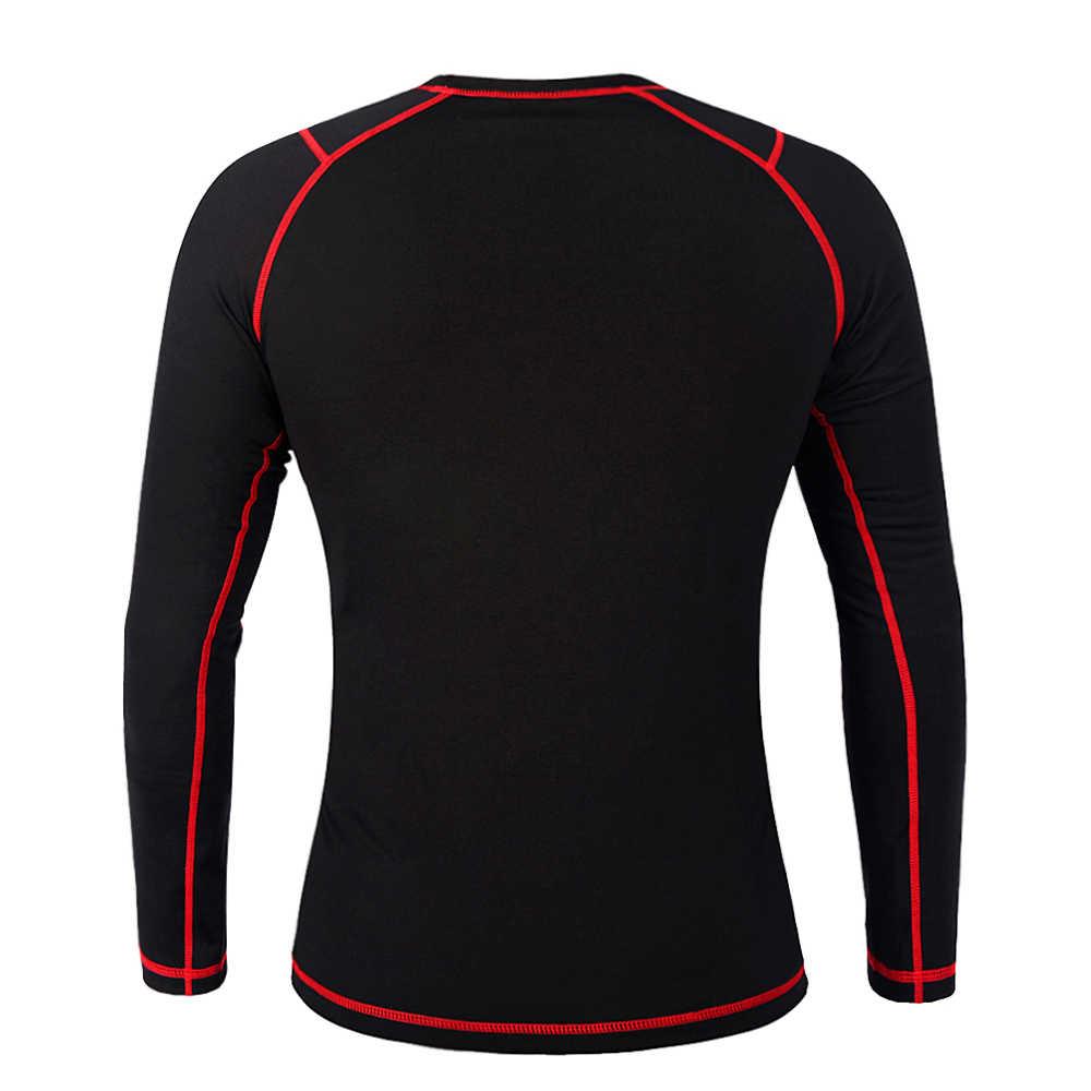 WOSAWE Мужская зимняя флисовая термобелье для мотокросса нижнее белье майка с длинными рукавами одежда Топ футболки для мотокросса базовый слой