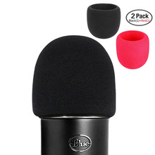 hot deal buy shelkee foam microphone windscreen for blue yeti ,yeti pro condenser microphones- as a pop filter for the microphones 2 pack