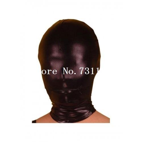 Горячая Хэллоуин забавная блестящая металлическая толстовка с капюшоном «zentai» унисекс маска - Цвет: Full