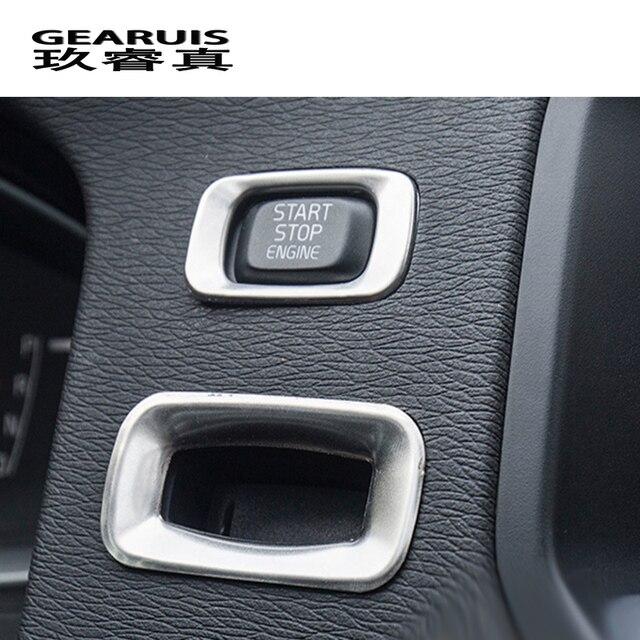 Autocollants décoratifs pour Volvo V60 S60 | Bouton de commutation, pour le démarrage du moteur de la voiture, trou de serrure, accessoires automobiles intérieurs