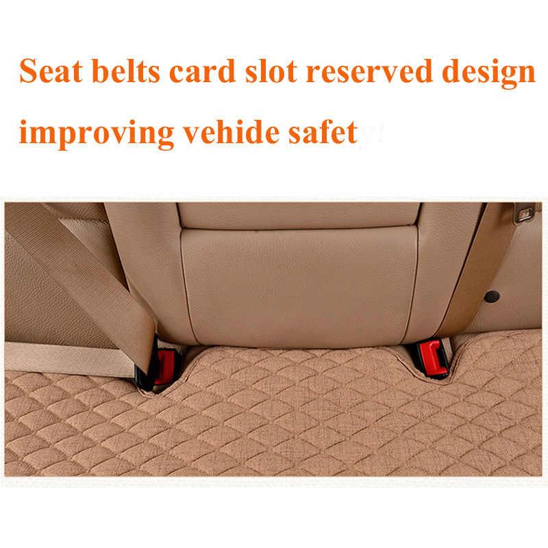 ผ้าลินินผ้ารถยนต์ Four Seasons ด้านหน้าด้านหลัง Flax Cushion Breathable Protector Mat Pad อุปกรณ์เสริม Universal ขนาด